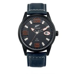 Montre All Blacks analogique cuir noir 680403