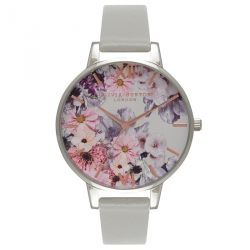 Olivia Burton Enchanted Garden Grey & Silver 38mm OB15FS76