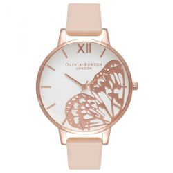 Olivia Burton Applied Wing Nude Peach & RoseGold 38mm OB16AM94