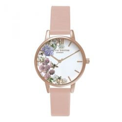 Olivia Burton Enchanted Garden Dusty Pink & Rose Gold 30mm OB16EG56