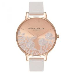 Olivia Burton Lace Detail Blush & RoseGold 38mm OB16MV53