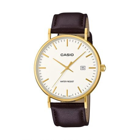 Casio classique cuir marron taille Homme MTH-1060GL-7AER