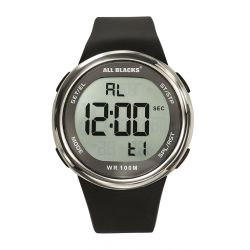 Montre All Blacks digitale résine noire 680412