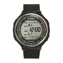 Montre All Blacks digitale lunette argentée 680411