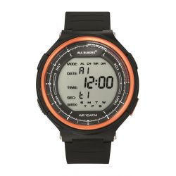 Montre All Blacks digitale lunette orange 680409