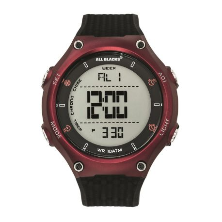 Montre All Blacks digitale lunette rouge 680408