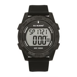 Montre All Blacks digitale résine noire 680404