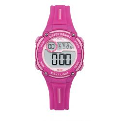 Montre Tekday digitale rose pour fille 653998
