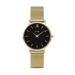 Montre Femme Cluse Minuit Mesh Gold/Black 33mm CL30012