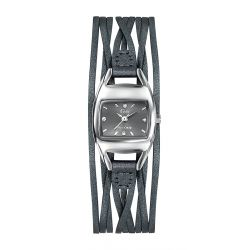 Montre femme GO Girl Only Enlace-moi cuir gris 698769