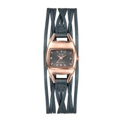 Montre femme GO Girl Only Enlace-moi rosegold cuir gris 698773
