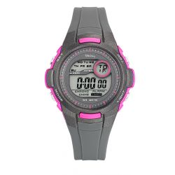 Montre Tekday digitale rose/grise pour fille 653967