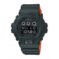 Montre Casio G-Shock bracelet kaki / orange DW-6900LU-3ER
