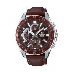 Casio Edifice bracelet cuir marron EFV-550L-5AVUEF