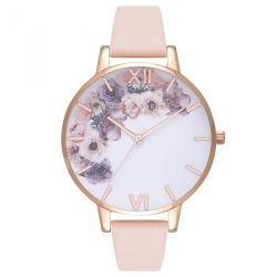 Olivia Burton Watercolour Florals Blush Rose Gold 38mm OB16PP30