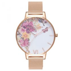 Olivia Burton Enchanted Garden Rose Gold Mesh 38mm OB16EG82