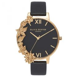 Olivia Burton Case Cuff Black Dial Gold 38mm OB16CB07