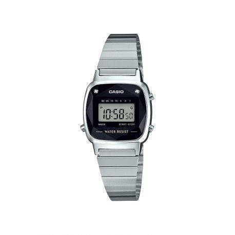 Montre Casio Vintage avec 2 diamants LA670WEAD-1EF