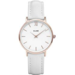 Montre Femme Cluse Minuit rosegold white/white 33mm CL30056
