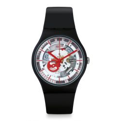 Montre Swatch New Gent 41mm Unisexe SUOB153 - SILIBLACK