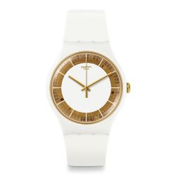 Montre Swatch New Gent 41mm Unisexe SUOW158 - SILIWHITE