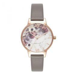 Olivia Burton Marble Floral Taupe & Or Rose 30mm OB16MF08
