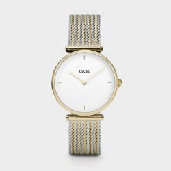 Montre Femme Cluse Triomphe 33mm Gold Bicolour Mesh CL61002