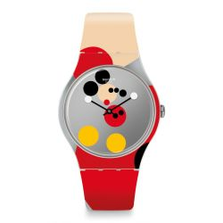 Montre Swatch New Gent 41mm pour Femme SUOZ290S - MIRROR SPOT MICKEY