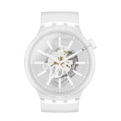 Montre homme Swatch Big Bold Jelly SO27E106 - WHITEINJELLY