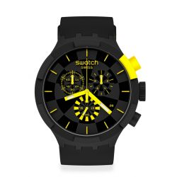 Montre Homme Swatch Big Bold Chrono SB02B403 - CHECKPOINT YELLOW