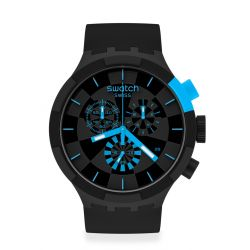 Montre Homme Swatch Big Bold Chrono SB02B401 - CHECKPOINT BLUE