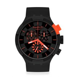 Montre Homme Swatch Big Bold Chrono SB02B402 - CHECKPOINT RED