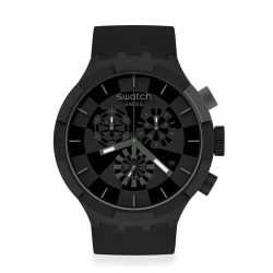 Montre Homme Swatch Big Bold Chrono SB02B400 - CHECKPOINT BLACK