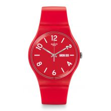 Montre Mixte Swatch SUOR705 - BACKUP RED