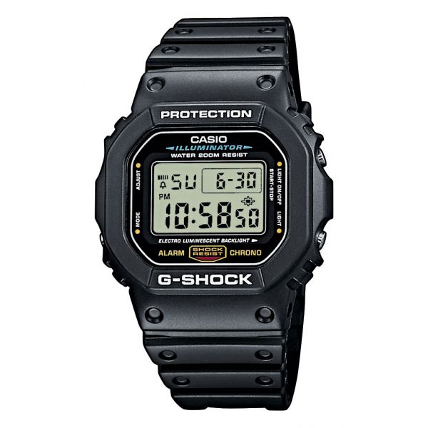 montre casio gshock dw 5600e 1ver pour homme. Black Bedroom Furniture Sets. Home Design Ideas