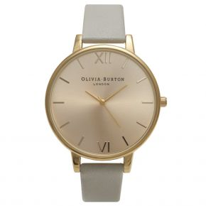 Montre Femme Olivia Burton Big Dial Grey and Gold OB14BD33