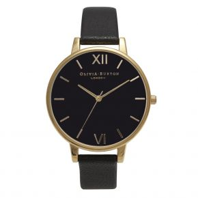 Montre Femme Olivia Burton Big Dial Black and Gold OB15BD55