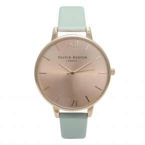 Montre Femme Olivia Burton Big Dial Mint and Rose Gold OB15BD75