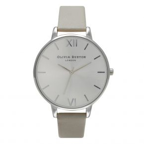 Montre Femme Olivia Burton Big Dial Grey and Silver OB15BD57