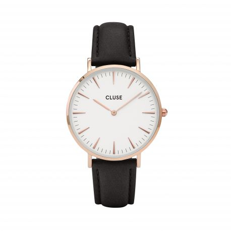 Montre Femme Cluse La Bohème Rose Gold White/Black 38mm CL18008