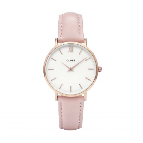 Montre Femme CluseMinuit Rose Gold White/Pink33mm CW0101203006