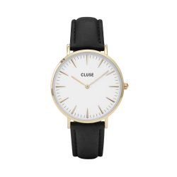 Montre Femme Cluse La Bohème Gold White/Black 38mm  CL18406