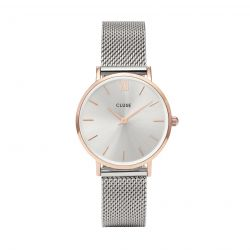 Montre Femme Cluse Minuit Mesh Rose Gold/Silver 33mm   CL30025