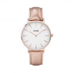 Montre Femme Cluse La Bohème Rose Gold White Rose Gold Metallic 38mm CL18030