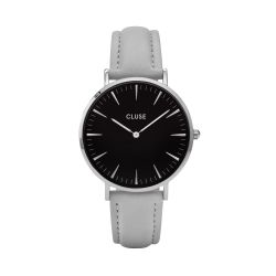 Montre Femme Cluse La Bohème Silver Black Grey 38mm CL18218