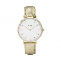 Montre Femme Cluse La Bohème Gold White Gold Metallic 38mm CL18421