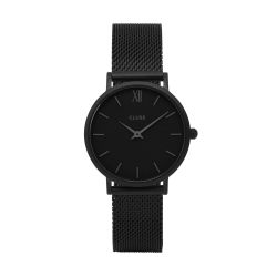 Montre Femme Cluse Minuit Mesh Full Black 33mm CL30011