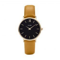 Montre Femme Cluse Minuit Gold Black Mustard 33mm CL30035