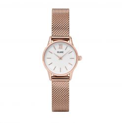 Montre Femme Cluse La Vedette Mesh Rose Gold White 24mm CL50006