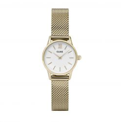 Montre Femme Cluse La Vedette Mesh Gold White 24mm CL50007
